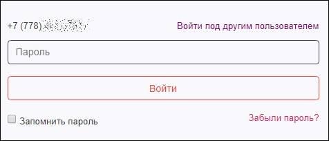 Детализация звонков Актив Казахстан - вводим пароль